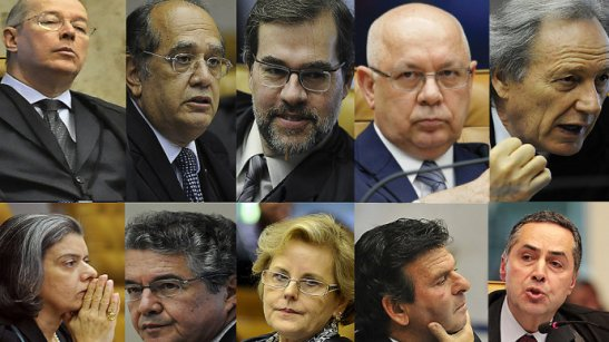 Os ministros do Supremo Tribunal Federal
