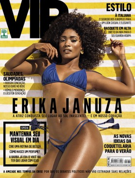 Actress Erika Januza on the cover of this month's VIP magazine