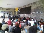 Case of racism case occurred as demonstrators passed by the University Restaurant (Photo: Bianca Morais)