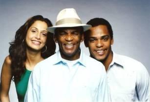 Antonio and his children Camila and Rocco