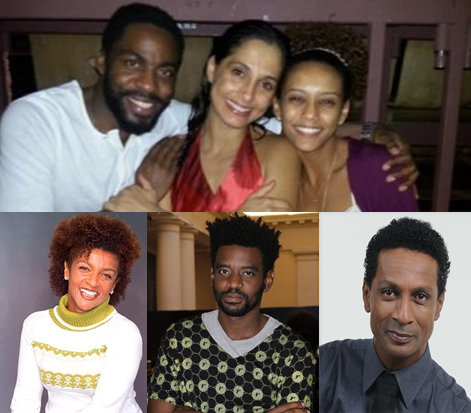 Elisa Lucinda, Lázaro Ramos, Taís e Camila Pitanga discutem série só com atores negros