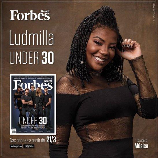 Ludmilla é capa da forbes e confessa que tem planos para iniciar uma carreira internacional