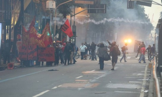 Greve geral - Protestos no Centro do Rio. Foto Marcelo Theobald - Marcelo Theobald