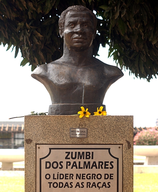 Busto de Zumbi dos Palmares em Brasília.