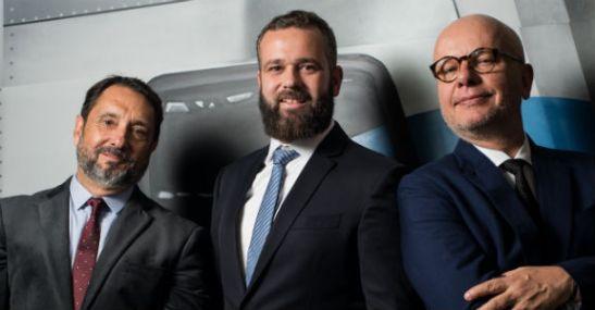 Carlos Júlio, Renato Meirelles and Marcelo Tas