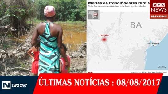 Seis trabalhadores rurais de território quilombola são mortos dentro de casa na Bahia