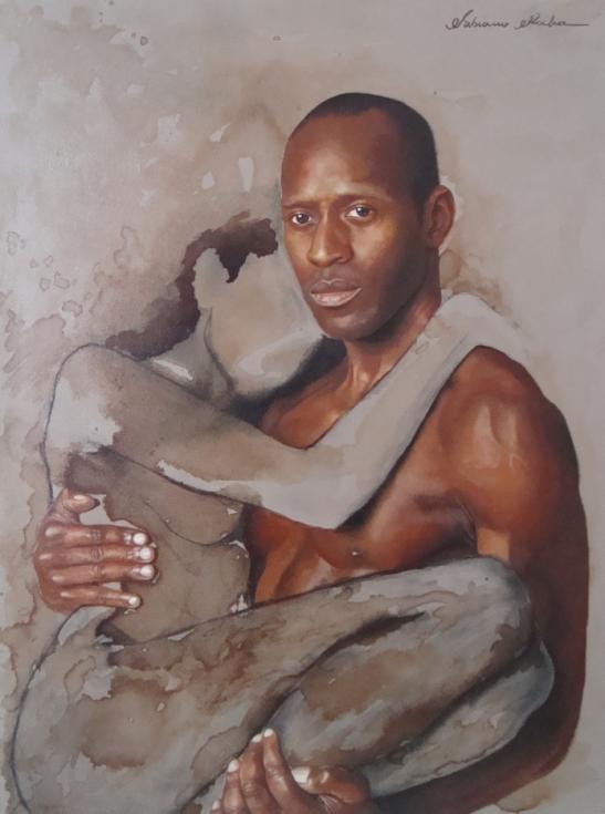 FABIANO ROCHA - Ess+¬ncia negra 1 - +¦leo sobre tela - 60 x 80