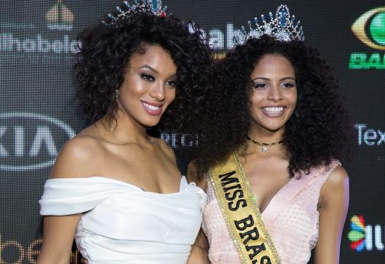 Raíssa Santa, Miss Brasil Be Emotion 2016, e Monalysa Alcântara, Miss Brasil Be Emotion 2017