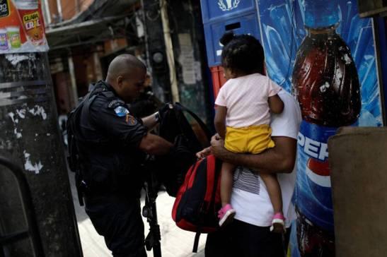 Operação policial na Favela da Rocinha, no Rio de Janeiro, em 22.09