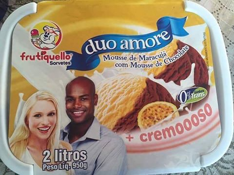 interracial couple - ice cream - sorvete