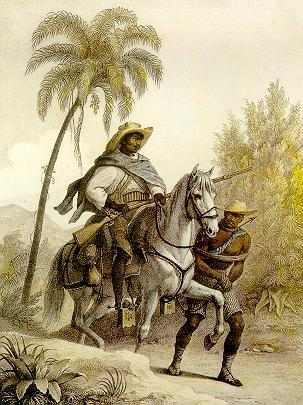 O caçador de recompensas procurando por escravos fugitivos (Rugendas, 1823)