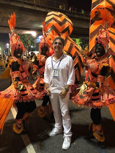 Coreógrafo da comissão de frente do Salgueiro, Hélio Bejani (Foto - Igor Ricardo)