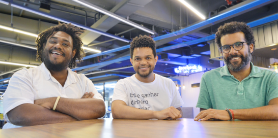 Carlos Humberto, Antonio Luz e André Ribeiros, da Diáspora Black